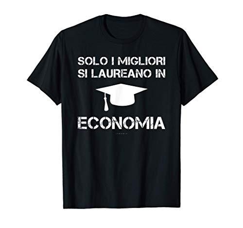 Uomo Magliette Uomo Manica Corta Regalo Laurea In Economia Maglietta