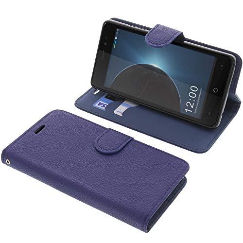 foto-kontor Tasche für Leagoo Z6 Book Style blau Schutz Hülle Buch