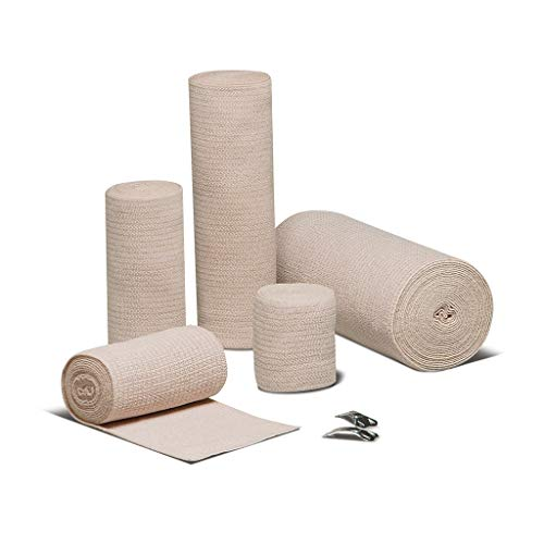 Epic Medical Supply 2 Pack Elastic Bandage 6' x 10 yds, Double Length with Clips Compression Roll