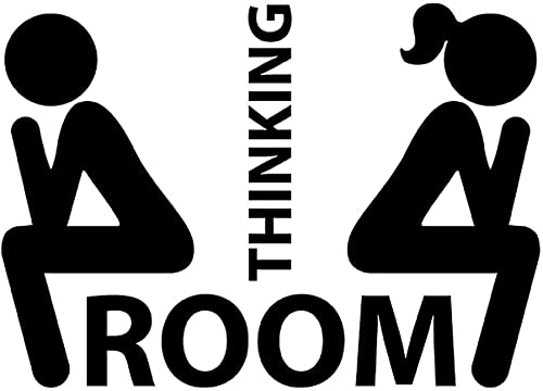 Adesivo - Murale - Toilette - Toilet - Bagno - WC - Divertente 25cm x 20cm - Porta del bagno divertente - Home Decor Small Toilet Sign Removable Wall Stickers