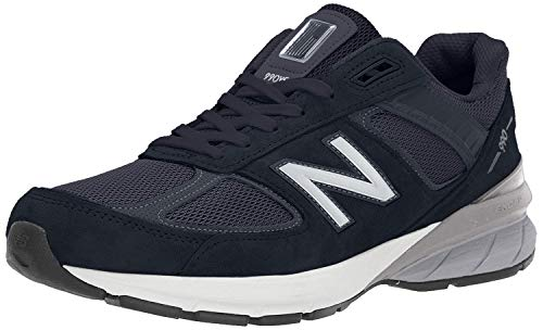 New Balance Men's 990v5 Sneaker, Navy/Silver, 7 M US