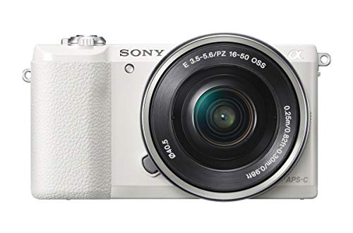 Sony a5100 16-50mm Mirrorless Digital Camera with 3-Inch Flip Up LCD (White) (Renewed)