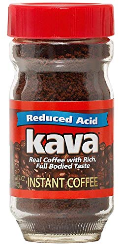Kava Acid Reduced Instant Coffee in Glass Jar, 4 Ounce (Pack of 1)