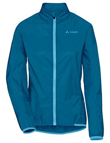 VAUDE Damen Jacke Women's Air Jacket III, Windjacke für Radsport, 80 % winddicht, kingfisher, 40, 408063320400