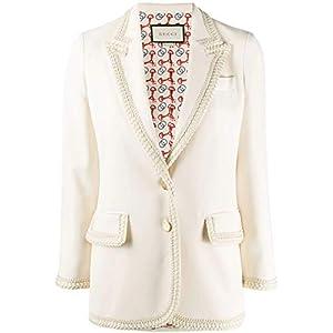 Gucci Luxury Fashion Damen 610946ZKR019102 Weiss Viskose Blazer | Frühling Sommer 20