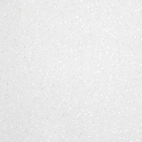 Siser Glitter HTV 20 x 12 Sheet - Iron on Heat Transfer Vinyl (White)