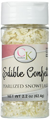 Pearlized Snowflakes Sprinkles 2.6 Ounces