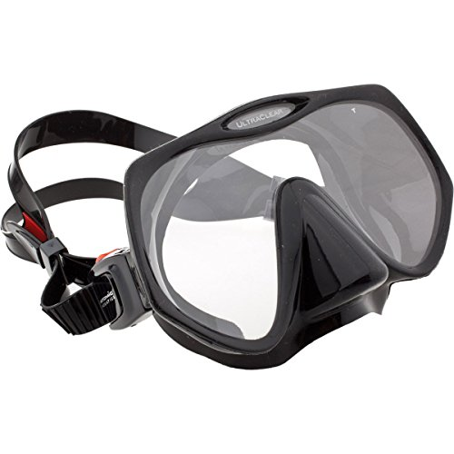 Atomic Aquatics Frameless Mask for Scuba Diving and Snorkeling - Regular Black
