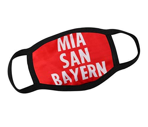 Alsino Mundschutzmaske Mundschutz Maske Motiv Mia san Bayern Atemschutz Waschbar wechselbarer PM 2.5 Filter Stoffmaske Herren, Damen, Kinder