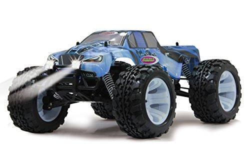 RC Auto kaufen Monstertruck Bild 5: Jamara Tiger Ice Monstertruck 1:10 4WD NiMh 2,4G LED - Allrad, Elektroantrieb, Akku, 35Kmh, Aluchassis, spritzwasserfest, Öldruckstoßdämpfer, Kugellager, Fahrwerk einstellbar, fahrfertig*