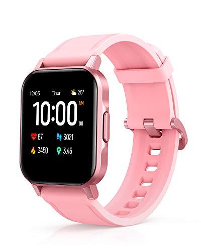 AUKEY Smartwatch Donna, 1,4'' Full Touch 320p Schermo Orologio Fitness Activity Tracker, Impermeabil IP68, Cardiofrequenzimetro, Cronometro Contapassi, Notifiche Messaggi, Controllo della Musica, Rosa