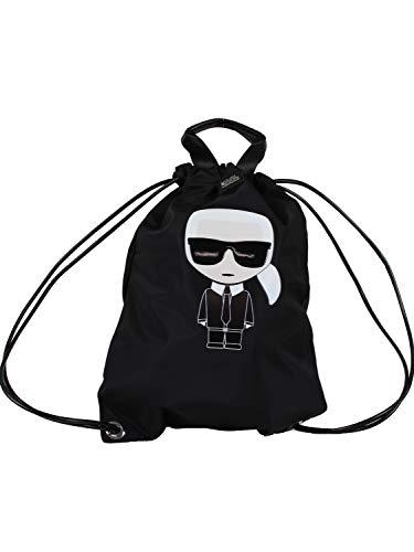 Karl lagerfeld - 999 flat backpack black 201W3090