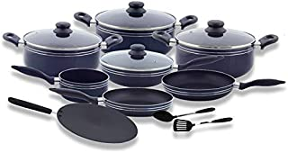 Royalford RF5858 Cookware Set, 12 Pieces, Scratch Resistant, Tempered Glass Lids, 2.5mm Body Thickness, Bakelite Knobs and...
