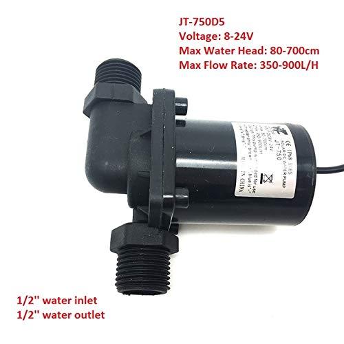 SHIJING Micro Submersible Water Pomp DC 12V 24V geluidsarme Solar Brushless Pomp Max 7M 900L / H,1