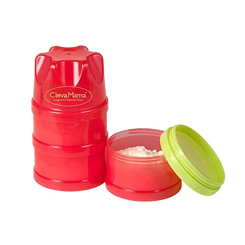 Clevamama 7014 Stapelbarer Behälter für Säuglingsnahrung und Brei