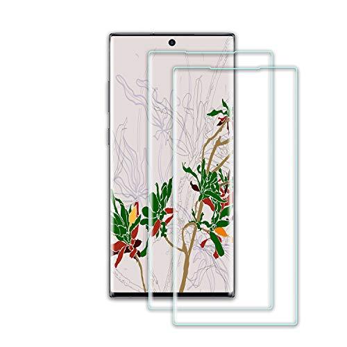 Roclot Lot de 2 films protecteurs d'écran en verre trempé pour Samsung Galaxy Note 10 Plus, sans bulles, anti-éclat, dureté 9H, compatible avec les empreintes digitales, anti-traces de doigts