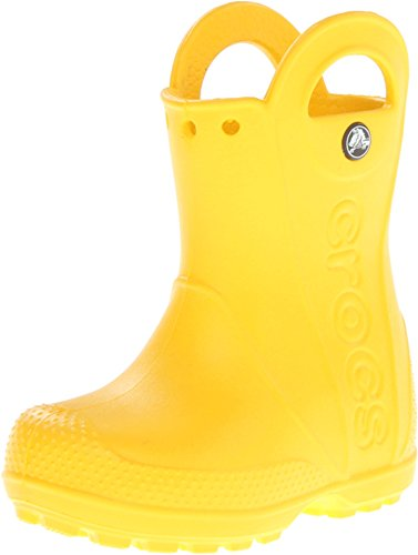 Crocs Handle It Rain Boot Unisex Niños Botas de agua, Amarillo (Yellow), 23/24 EU