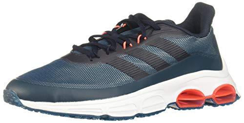Adidas QUADCUBE, Zapatillas Running Hombre, Azul (Tech Mineral/Legend Ink/Signal Coral), 44 2/3 EU ✅