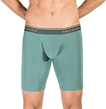 Obviously EveryMan AnatoMAX 9 Inch Boxer Brief (B01-1G), Teal, Large