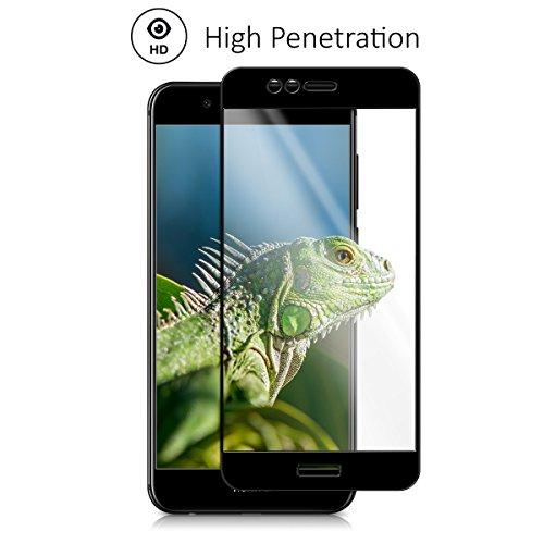kalibri Huawei Nova 2 Plus Folie - 3D Glas Handy Schutzfolie für Huawei Nova 2 Plus - Auch für gewölbtes Display - 4