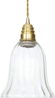 Belief Rebirth 1-Pack colgante Iluminación industrial |Shade colgante de cristal claro artefacto de iluminación |cobre |Altura ajustable |Edison Lámpara de la vendimia granja de Isla de cocina, restau: Amazon.es: Hogar