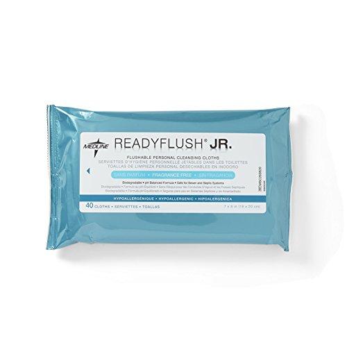 Medline msc263820readyflush Jr. Flushable Wipes (Pack de 960)