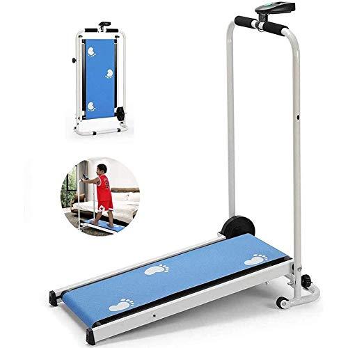 anking Cinta De Correr Eléctrica Plegable para Fitness, Compacta, Mini Equipo De Ejercicios para Niños Y Niñas,Azul