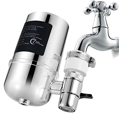 Filtro de agua del grifo purificador 8 capas de sistema de filtro de agua del grifo para eliminar metales pesados, fluoruro, adecuado para la mayoría de los grifos