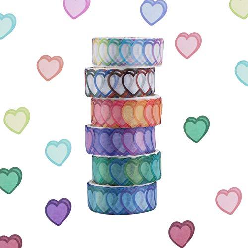 Washi Tape Set,6/8 Rollen Dot Washi Tape Aufkleber 600/800 Stück Punkte Aufkleber 14mm Breite Dekorative Bänder Masking Tape für DIY Scrapbooking Aufkleber Geschenkdekoration Verpackung (6 Rolls)