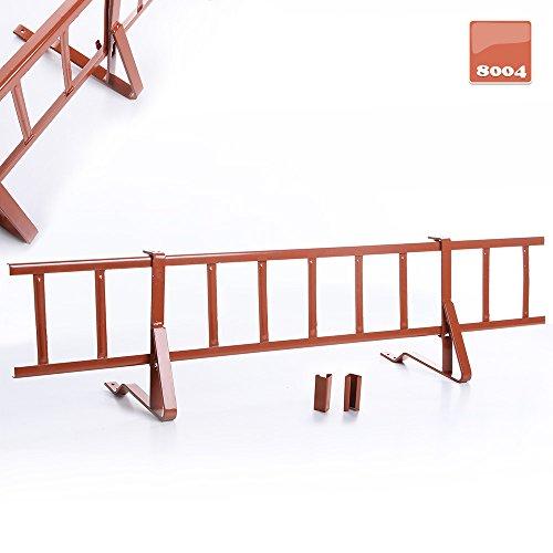 Komplettes Schneefanggitter für Betondachziegel und Tondachziegel, Schneefangsystem, Ziegelrot | RAL 8004