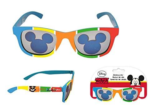 Mickey Mouse Premium Colores Gafas de Sol Montañismo, Alpinismo y Trekking Infantil, Juventud Unisex, Multicolor (Multicolor), Talla Única