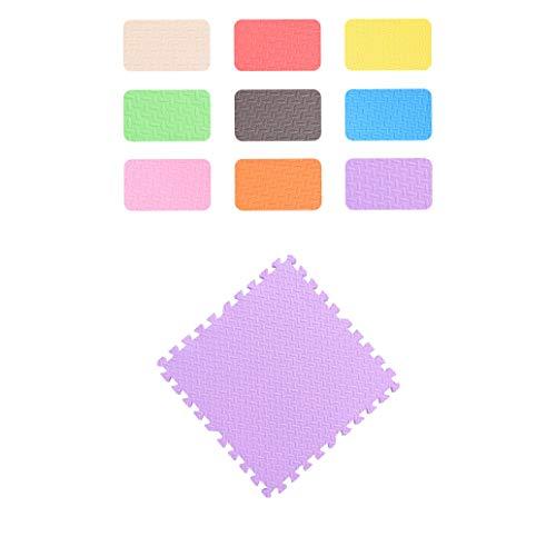 LXZFJW Azulejos entrelazados de espuma EVA para suelo de baldosas entrelazadas para sala de juegos de niños, color morado, 60 x 60 x 1,2 cm, 8 unidades