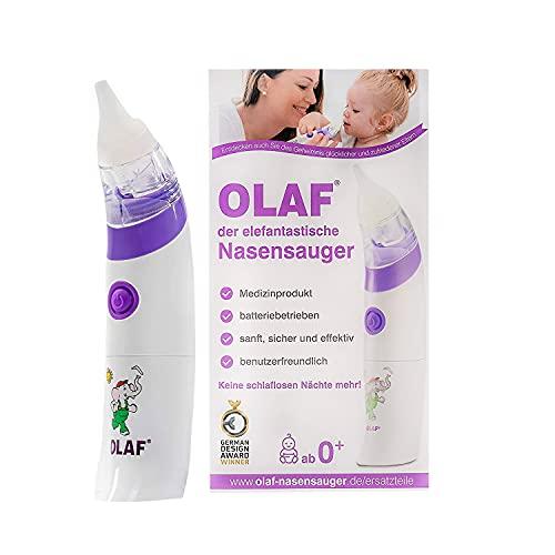 OLAF der elefantastische Nasensauger, elektrischer Babynasensauger, Kleinkind Sekretsauger, Nasenschleimentferner, Nasensauger Baby elektrisch, Medizinprodukt…