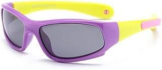 YUNGYE - YUNGYE Poalrized niños de Silicona Suave Frame Gafas de Sol Niño Niña Linda al Aire Libre de los vidrios de Sun de Las Lentes Los niños con Correa (Lenses Color : C9)