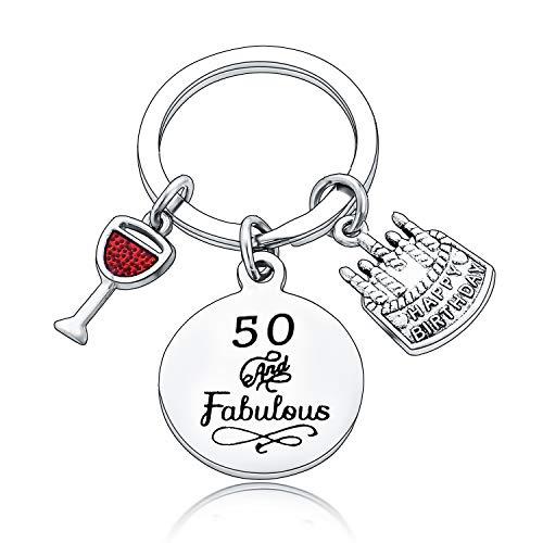 Happy Birthday Gifts Women Keychains Teen Girls Keyrings Jewellery Presents for Mum Grandmother...