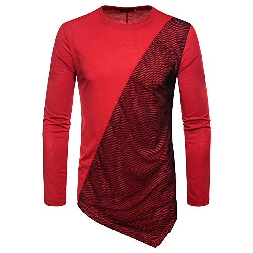 ZYUD Herren Pullover Strickpullover Basic Sweatshirt Langarm Sweater Feinstrick Slim...