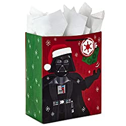 "Hallmark 13"" Star Wars Gift Bag with Tissue Paper for Holiday and Christmas Presents, Darth Vader, L"