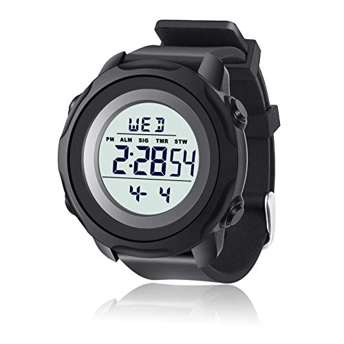 ms.universe & mr.Mars Reloj Digital Hombre Mujer, 5ATM Impermeable Cronómetro Relojes Deportivos con Alarma, Retroiluminación LED Reloj Hombre Mujer Amantes