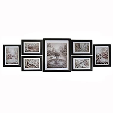 Giftgarden Wall Landscape Painting Picture Frame Multiple Size Art for Photo Display four 4x6 and two 5x7 and one 8x10