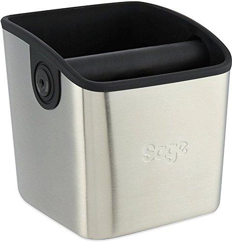 Sage BES100GBUK the Knock Box Mini Coffee Grind Bin, Silver