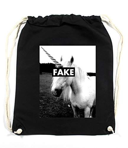 Certified Freak Fake Unicorn Gymsack Black