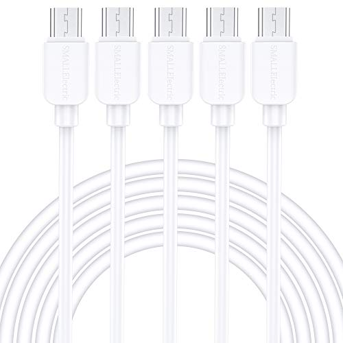 Micro USB Cable Android, SMALLElectric (5-Pack, 6 FT) Long Charger USB to Micro USB Cables High Speed USB2.0 Sync and Charging Cord for Samsung, HTC, Xbox, PS4, Kindle, Nexus, MP3, Tablet and More