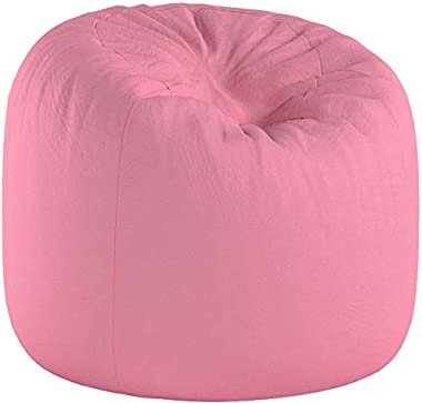 Posh Creations Big Comfy Bean Bag Posh Large Beanbag Chairs with Removable Cover for Kids, Teens and Adults Polyester Cloth P