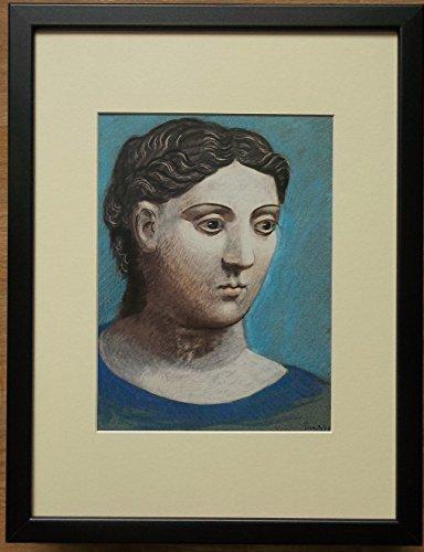 Montato e Picasso stampa incorniciata, 30,5x 40,6cm con cornice, testa di donna di Picasso