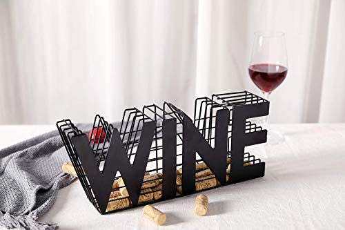 JHY DESIGN Wine Cork holder-135 Length Metal Craft Wine Cork Storage