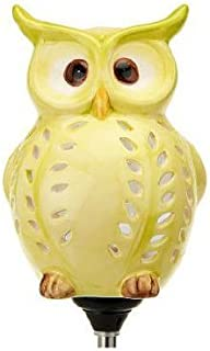 Cute Little Owl Garden Decoration, Best Solar Owl Stake And Solar Owl Light, Ceramic Owl Scarecrow Garden Decor For Your Lawn and Garden