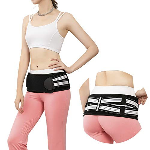 Si Joint Belt Sacroiliac Hip Belt Lower Back pelvic Support Brace for Men and Women,Relief from Sciatica, Pelvis, Lower Back, Nerve and Leg Pain,Anti-Slip and Pilling-Resistant Belt (Large)