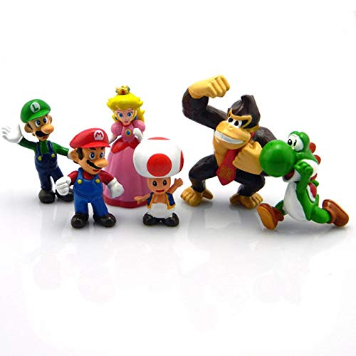 YUNDING Super Mario Peluches 6 PCS / Lot Super Mario 4-7 CM