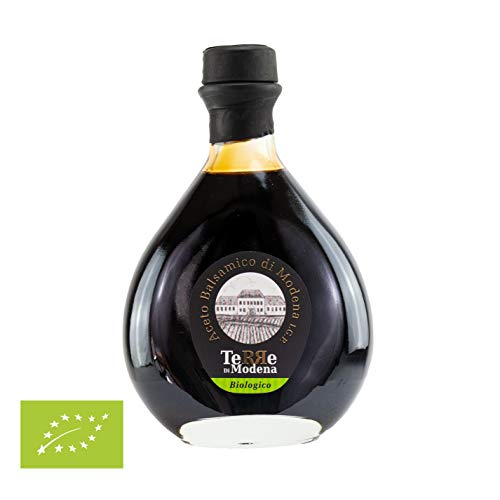 Bio-Gourmet Balsamico Essig Aceto Balsamico di Modena I.G.P. Biologico, 250ml, 5 Jahre im Holzfass gereift absolutes Qualitätsprodukt
