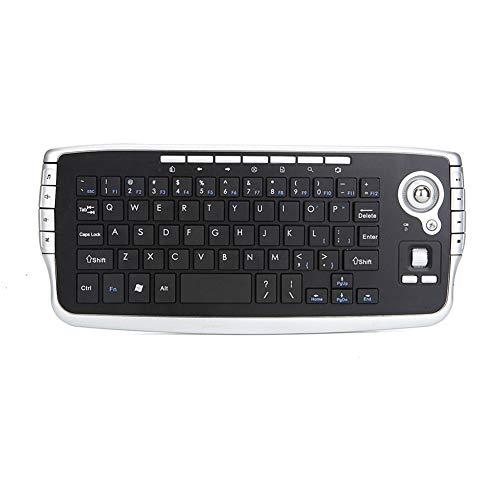 KK Zachary Drahtlose Tastatur, 2,4G-Wireless-Tastatur, Multimedia-Maus- und Keyboard-Kit, Windows 2K / XP/Vista-Unterstützung, schwarz